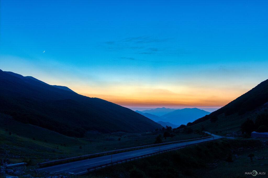 Vallata Campo Felice - Tramonto - Ora blu